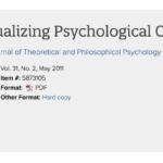 【第2回】<特集「Conceptualizing Psychological Concepts」を読む@オンライン>のお知らせ