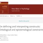 【第3回】特集「On defining and interpreting constructs」を読む@オンラインのお知らせ