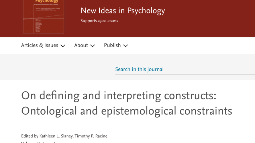 On defining and interpreting constructs